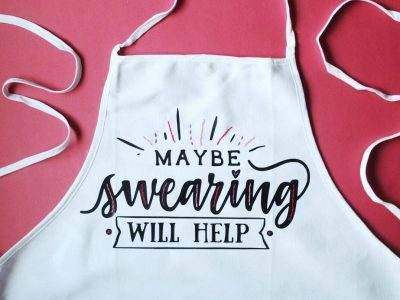 DIY Embroidered Vinyl Aprons with CraftBundles.com