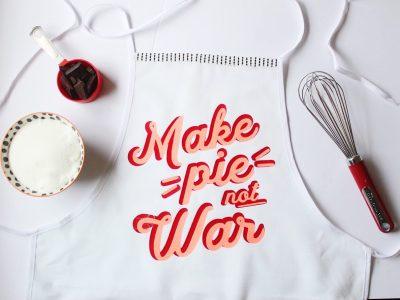 "DIY ""Make Pie"" Apron"