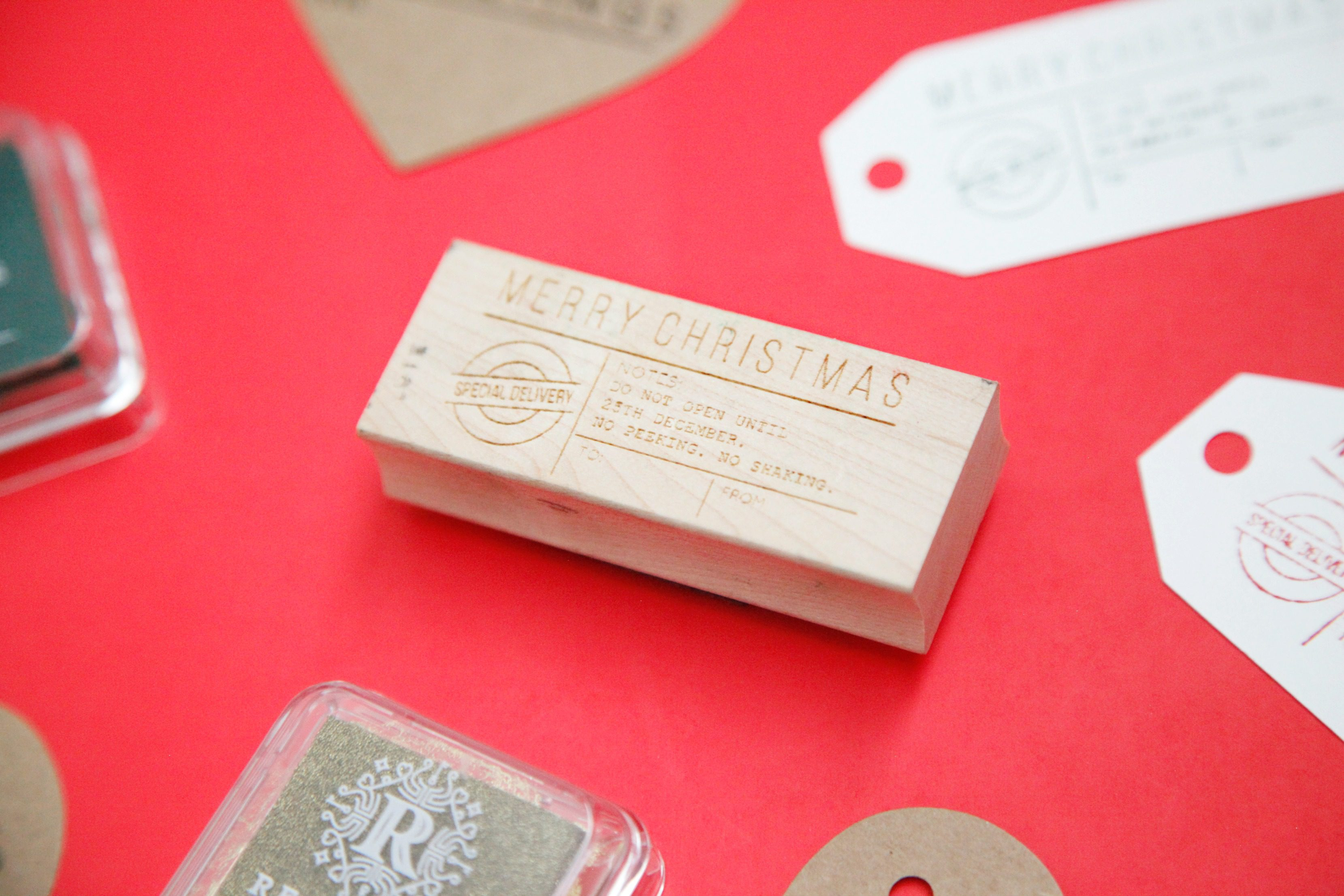 stamped gift tags 2
