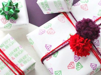 Make DIY Holiday Wrapping Paper with the Silhouette Mint!