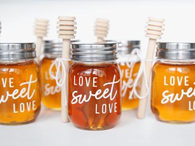 "DIY ""Love, Sweet Love"" Honey Jars"