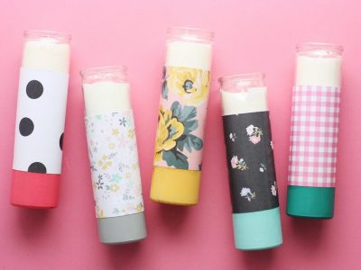 How to Make Paper & Mod Podge Candles: a Step by Step Tutorial