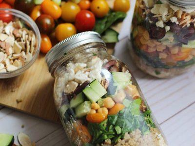 Mediterranean Salad Jars with Quinoa