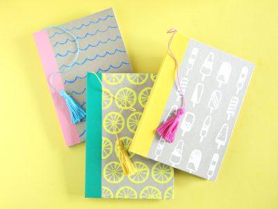 DIY Embossed Summer Journals