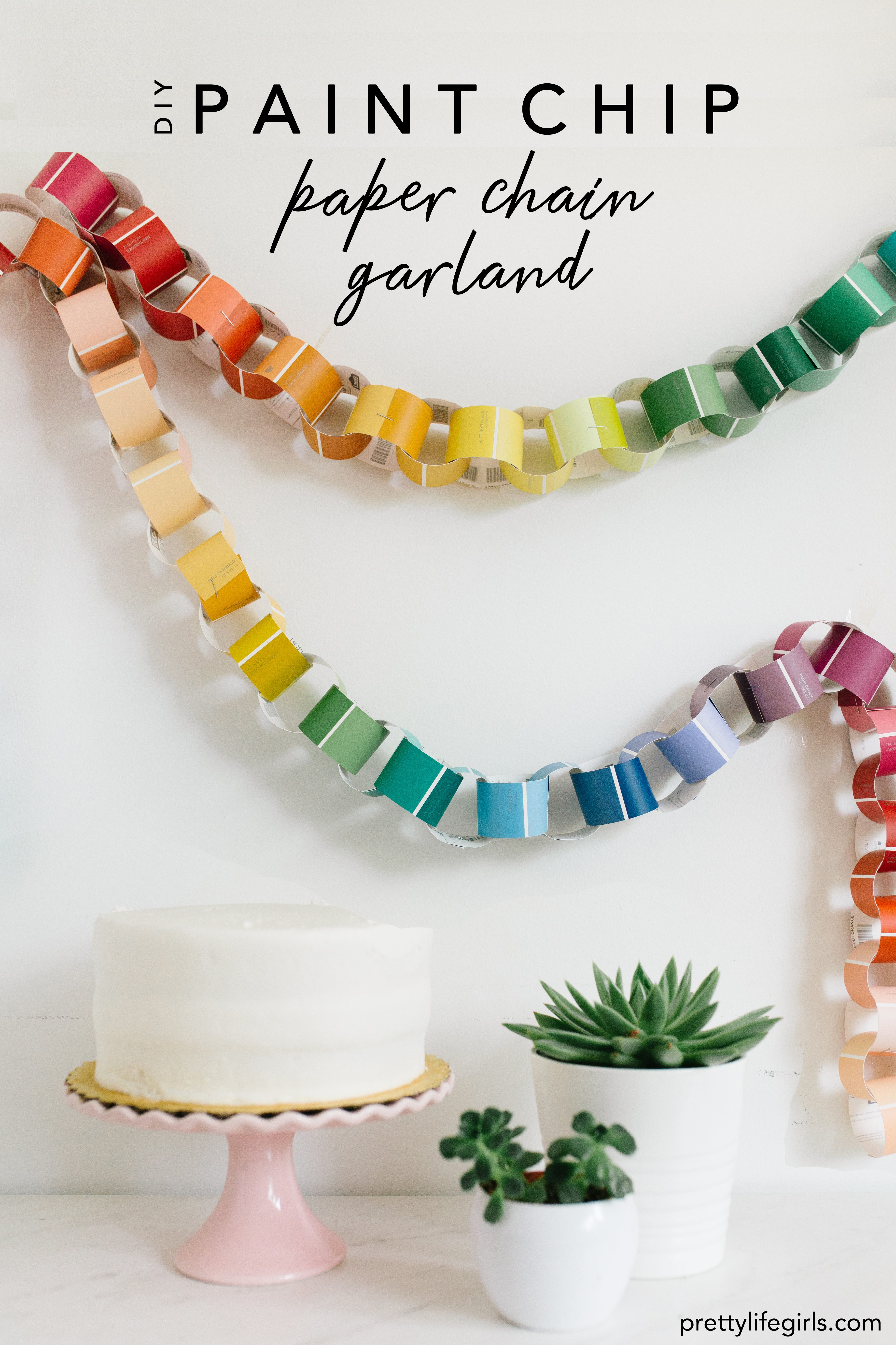 mini paper chain cake topper 13