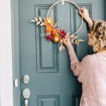 Fall Crafts Paper Flower Embroidery Hoop Wreath Tutorial The Pretty Life Girls