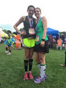 First race as a Skirt Sports ambassador and FIRST half marathon! With my BRF Krystal.