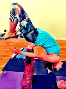 Learning Acro Yoga