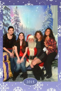 The girls and I with Santa!