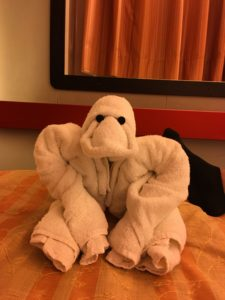 I'm pretty sure this is a gorilla. The towel animals are the best!