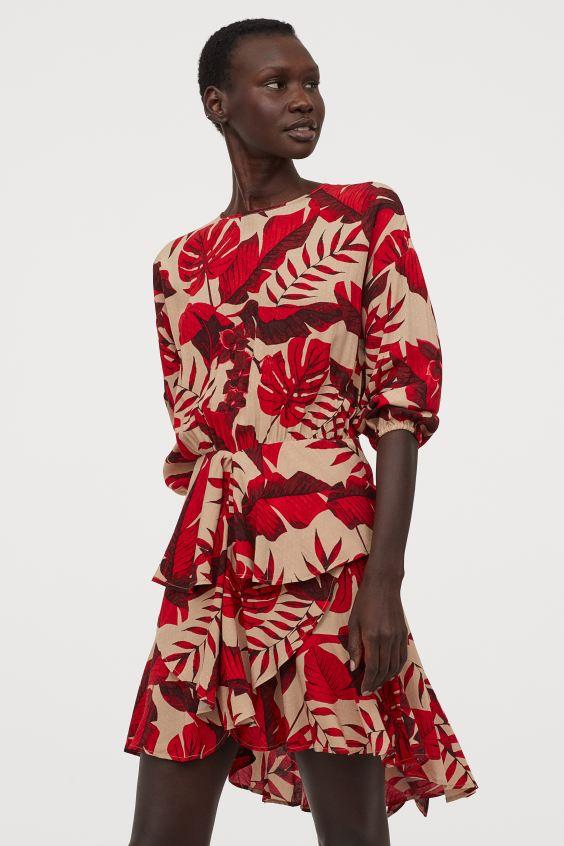 kvetinové H&M mini šaty z kolekcie Johanny Ortiz
