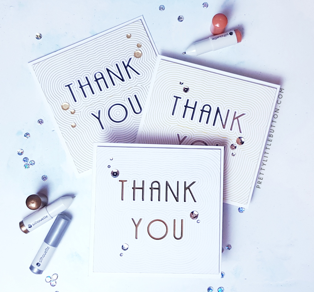 silhouette uk thank you cards with simple offset