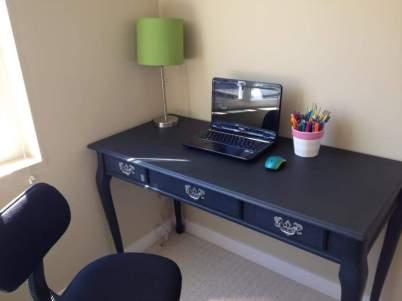 Dark navy blue desk