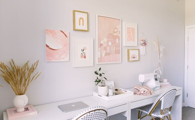 Feminine Boho Office And Guest Bedroom One Room Dokter Andalan