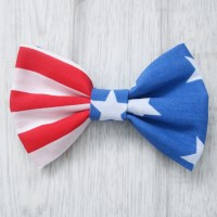 American Stars and Stripes Dog Bowtie - Pretty Little Paws