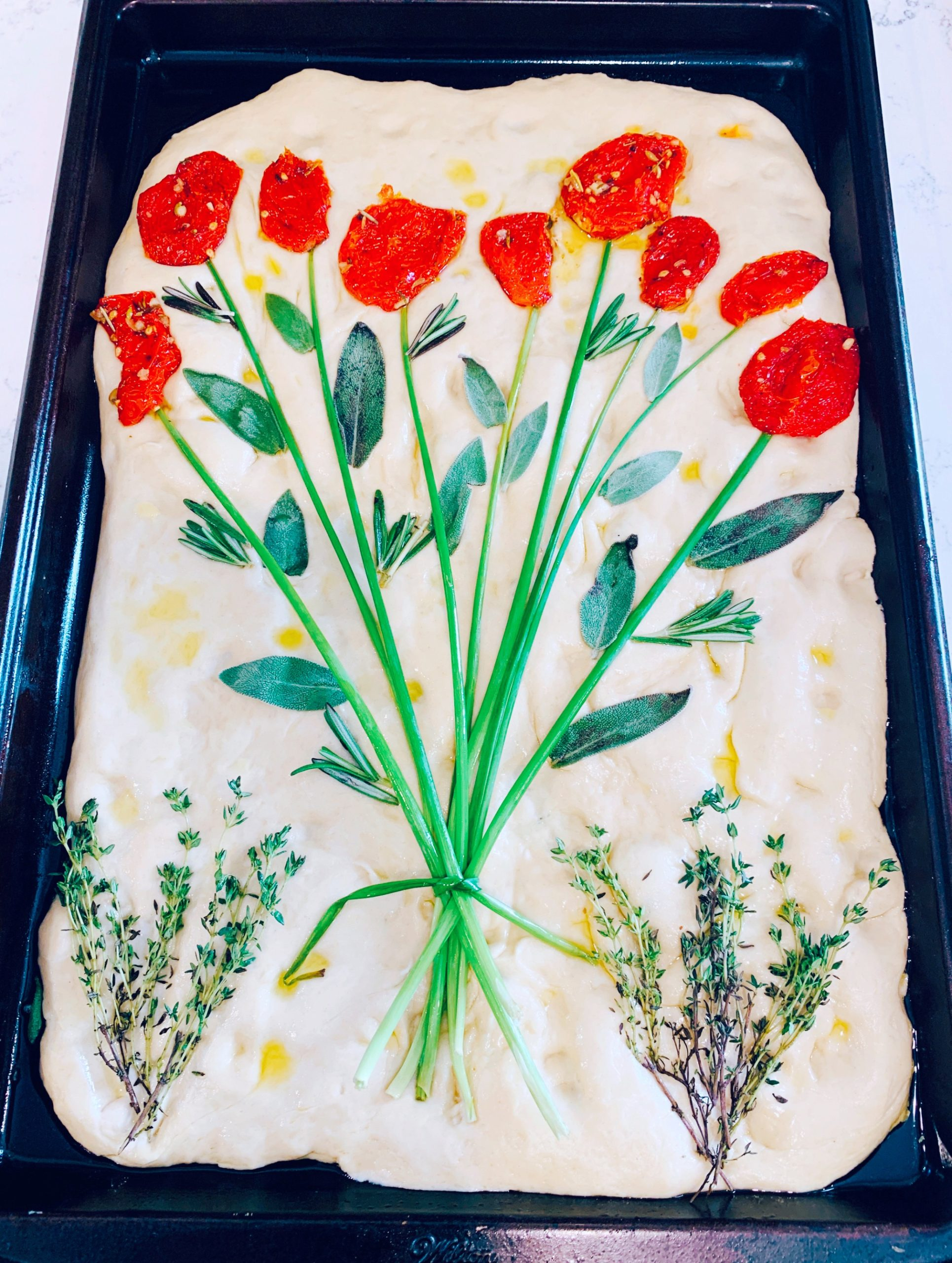 Focaccia Bread Art Ingredients For A Masterpiece Pretty Little Social