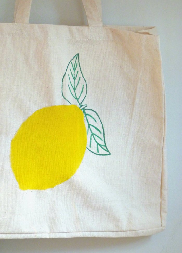 diy tote bag citron