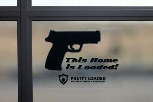 This Home is Loaded Vinyl Sticker