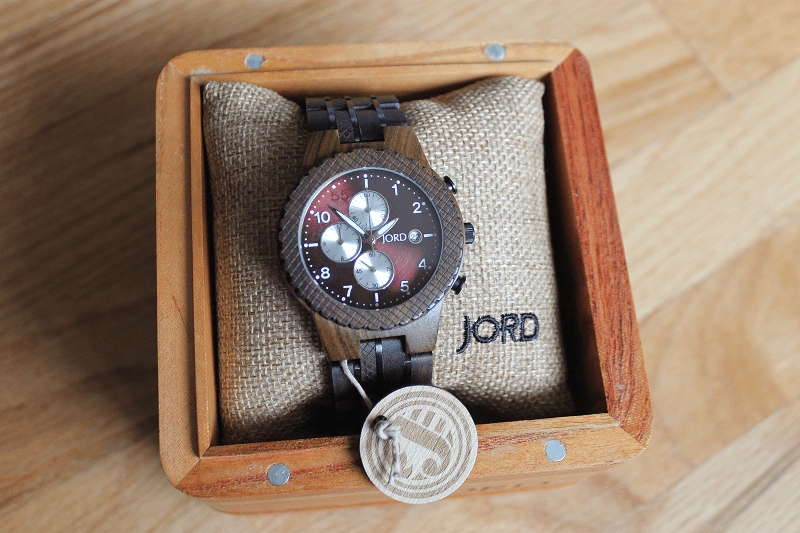JORD Conway Series Dark Sandalwood and Burgundy Watch