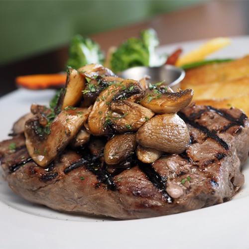 Prettyman Farms Steak and Mushrooms