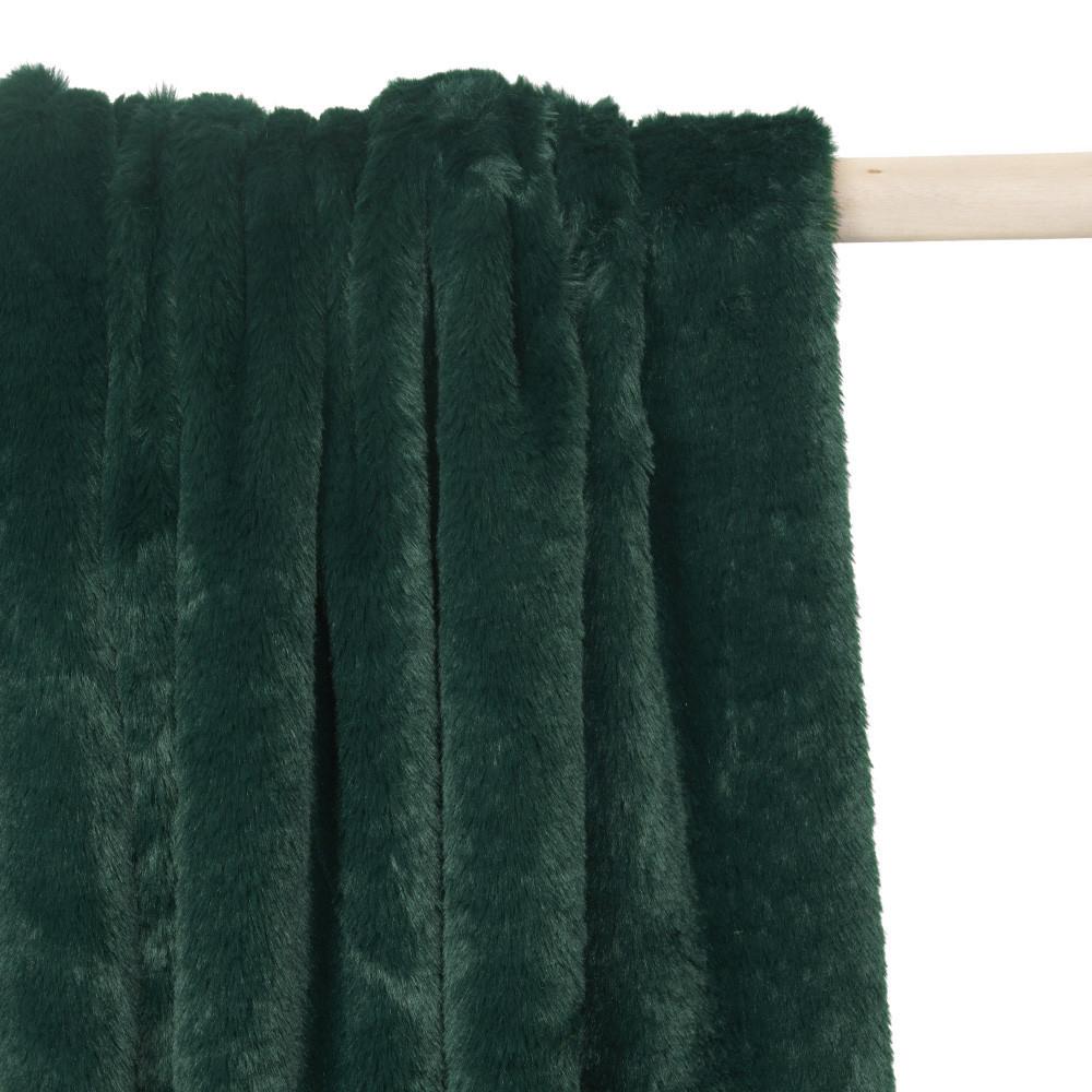 tissu fausse fourrure vert canard x 10cm