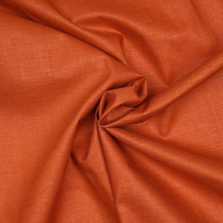 tissu lin tencel et viscose orange mecque x 10cm