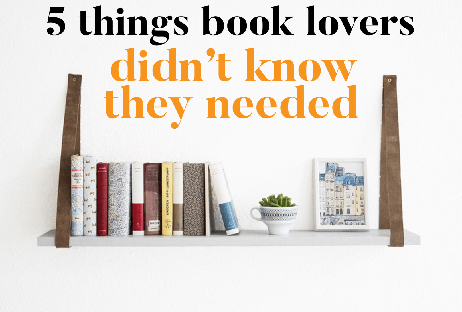5 book lover gifts