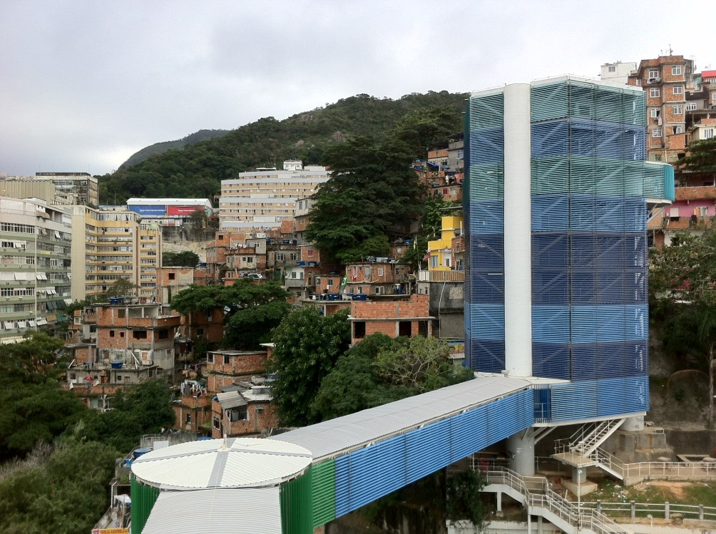 View of the Observatory and Stairs to the Favelas
