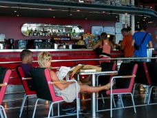 One of the ship's restaurants