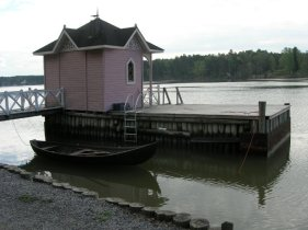 Little building on the water, Ruissalo, Finland