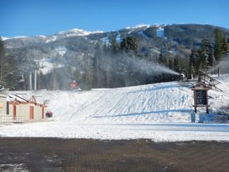 Snowmaking at work
