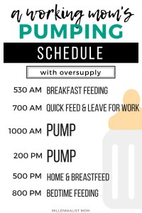 a practical pumping schedule for breastfeeding working moms