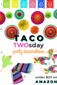 frugal budget friendly taco twosday birthday party decorations on amazon