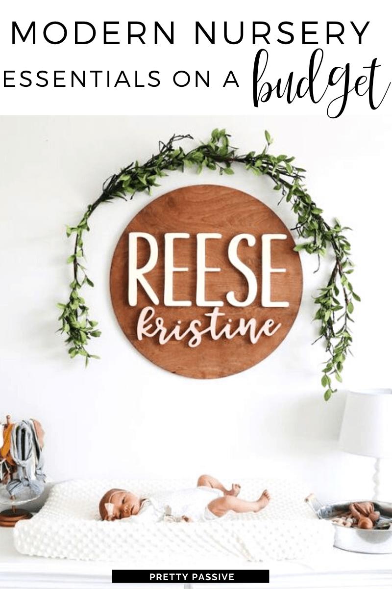 decorating a modern, trendy nursery on a budget