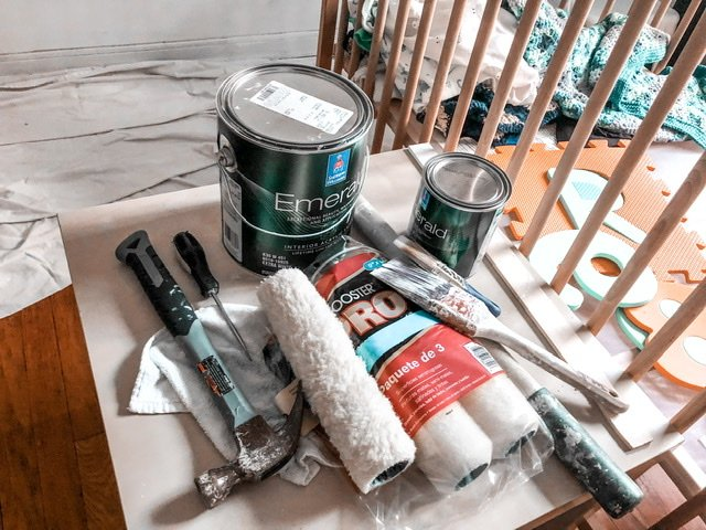 ORC 2020 paint supplies - sherwin williams greek villa and dark night
