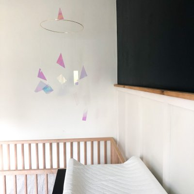 One Room Challenge REVEAL! The Modern Spacey Nursery makeover that ACTUALLY happened