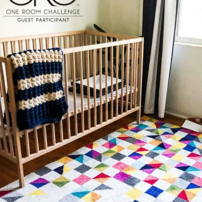 Modern Space Nursery | Geometric Rug Vibes