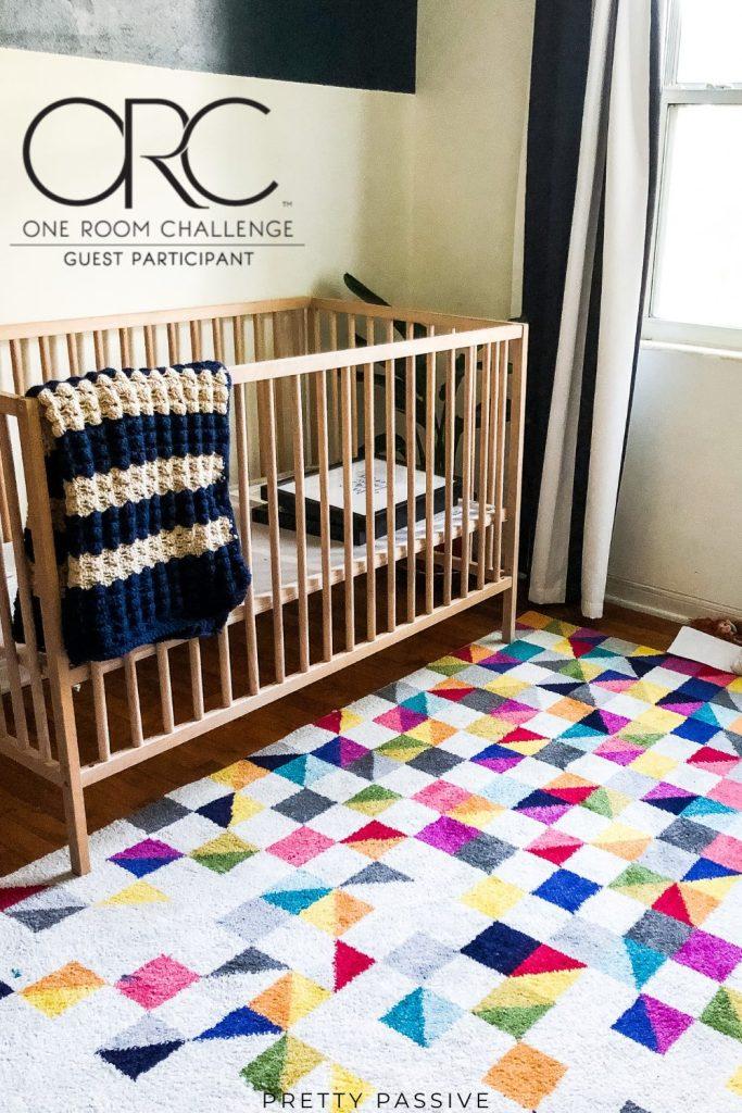 ORC week 5 - Modern space nursery rug under $150 from Amazon