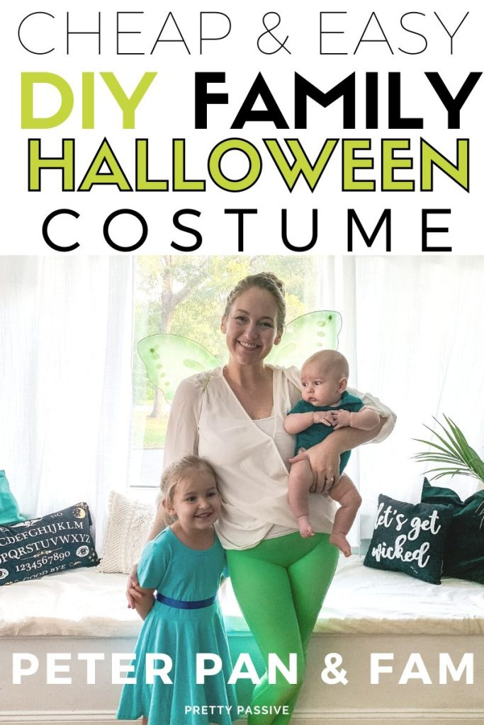 Cheap & Easy DIY Halloween Costumes for a family of 4 - Peter Pan and the Neverland Fam using things you already have + a few costume trunk essentials ;)