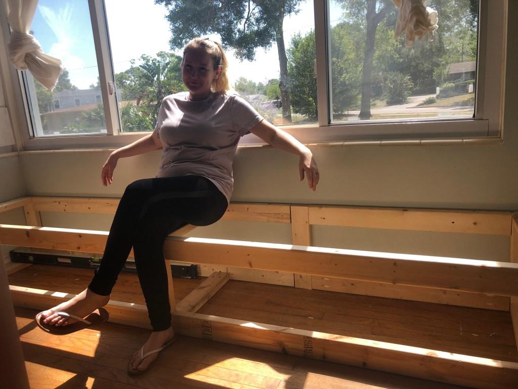 my easy DIY window bench frame