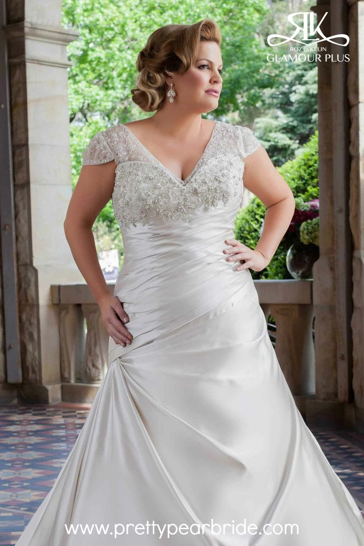 plus size wedding dress of the week  The Pretty Pear Bride  Plus Size Bridal Magazine