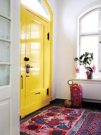 Bright Yellow Front Door