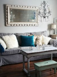 Ikea Ektorp Sofa + Comfort Works Velvet Slipcover ...