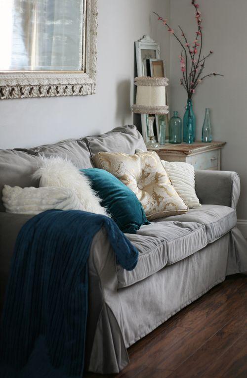 slipcover sofa australia modern patterned sofas ikea ektorp + comfort works velvet ...