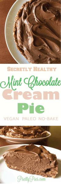 Mint Chocolate Cream Pie - PrettyPies.com