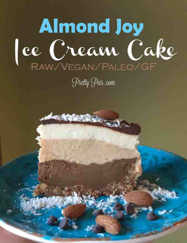 Almond Joy Ice Cream Cake - Vegan, Paleo | Pretty Pies