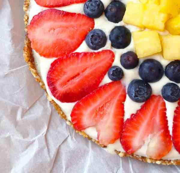 Vegan Fruit Pizza