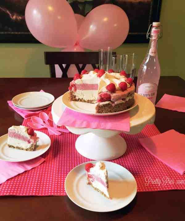 Raspberry Coconut Ice Cream Cake Party