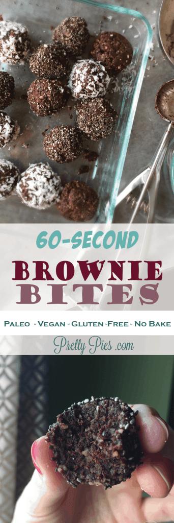 60-Second Brownie Bites   PrettyPies.com