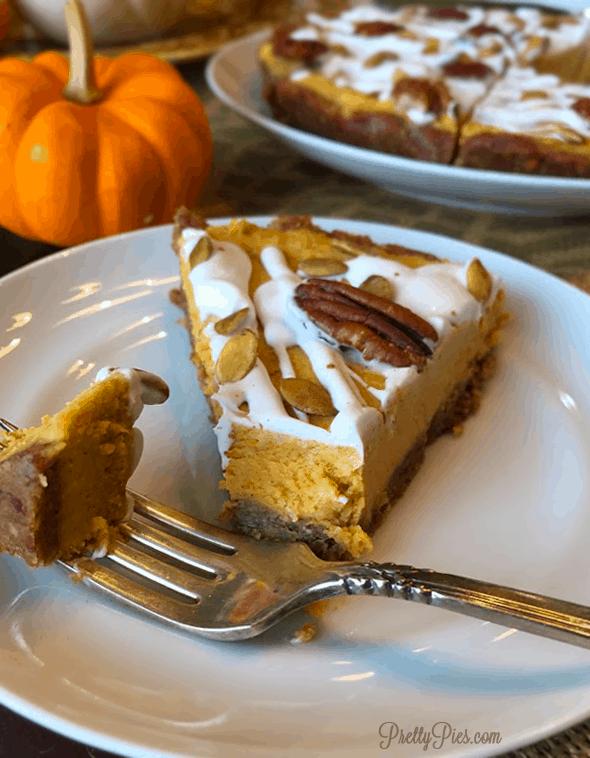 No-Bake Pumpkin Pie - PrettyPies.com (Vegan, Paleo)